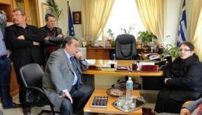 Επίσκεψη Αλέκας Παπαρήγα στον δήμο Μαρώνειας Σαπών