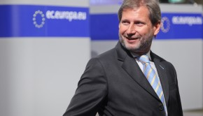 Johannes Hahn, Member of the EC in charge of Regional Policy gives a press conference on Regional Policy's Contribution to Sustainable Growth in Europe 2020