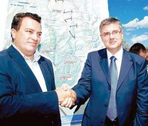 2Η Συμφωνία για τον Κάθετο Άξονα Νυμφαία - Κιρτζαλι μεταξύ Ε. Στυλιανίδη- Ντ. ΜιχaΛέφσκι στη Νυμφαία το 2005